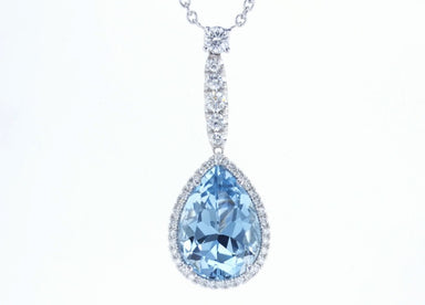 Aquamarine 18K White Gold Necklace