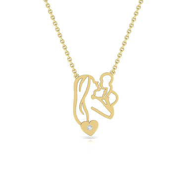 Mom And Baby Gold Pendant