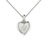 Heart with a Star of David Gold Pendant