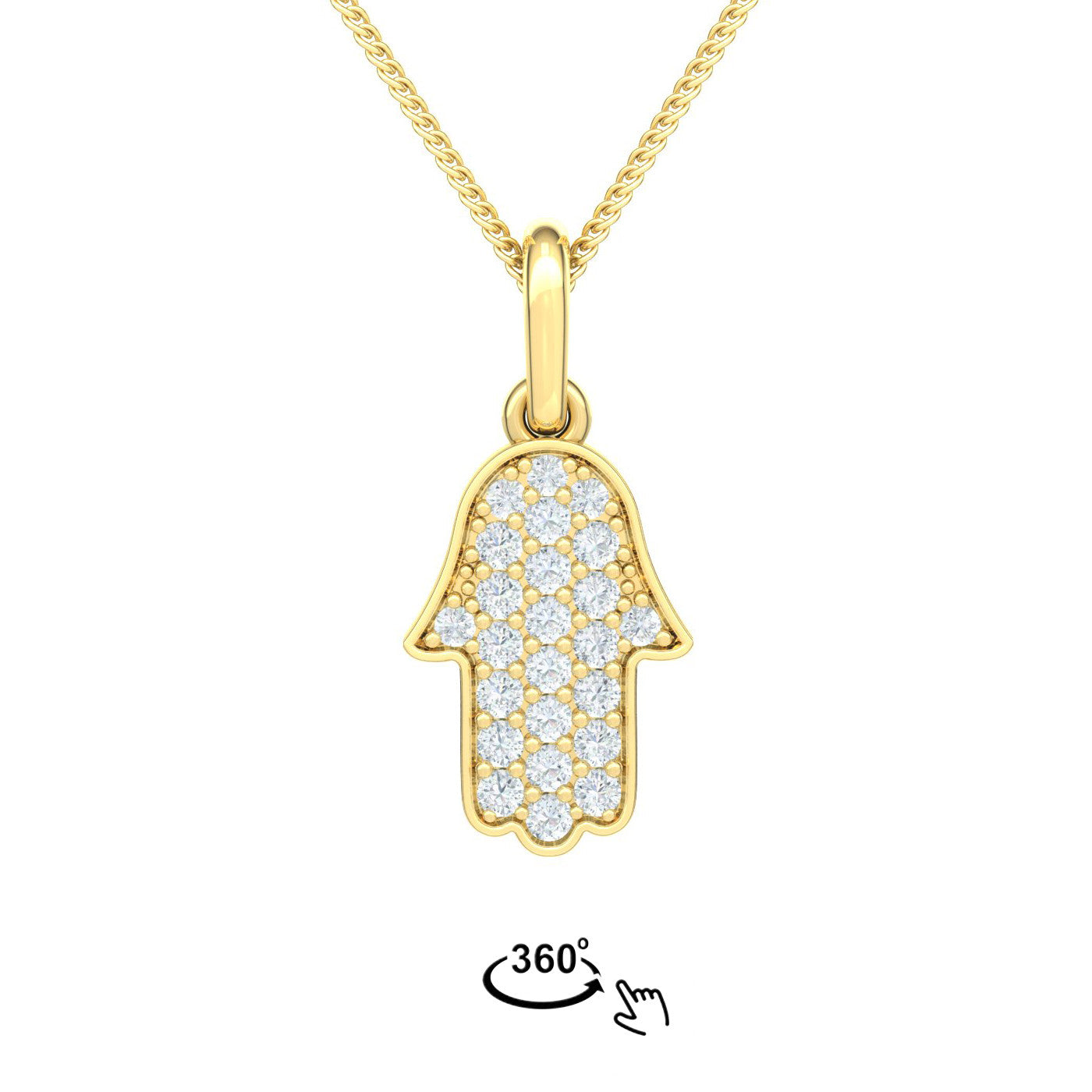 Hamsa with diamonds gold pendant star of d hamsa pendant with pave diamonds aloadofball Gallery