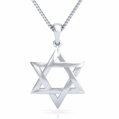 Large Interwoven Star of David Pendant