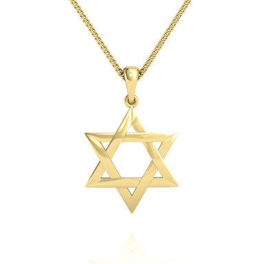 Interwoven Star of David Pendant For Men