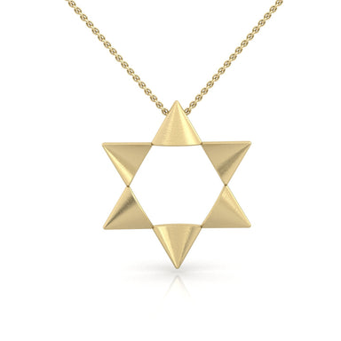 Unique Handmade Star of David Gold Pendant