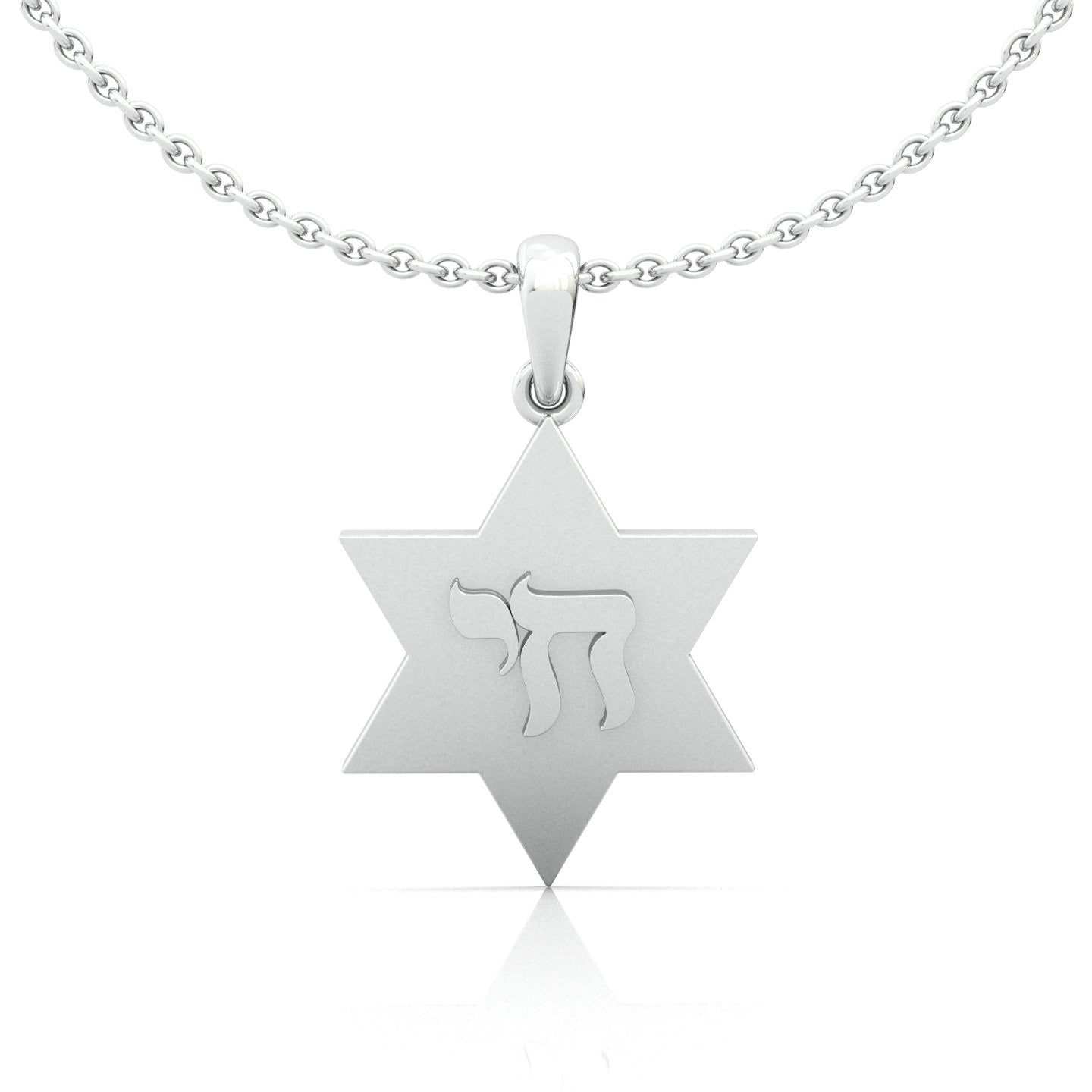 Star Of David With Chai Symbol Gold Pendant Star Of D
