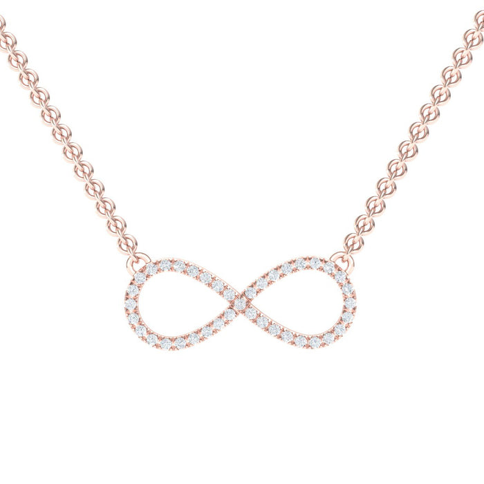 Infinity Gold Pendant Adorned With Diamonds