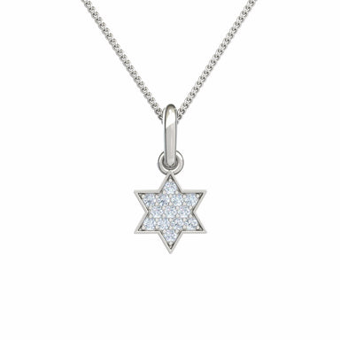 Star of David with Diamonds Gold Pendant