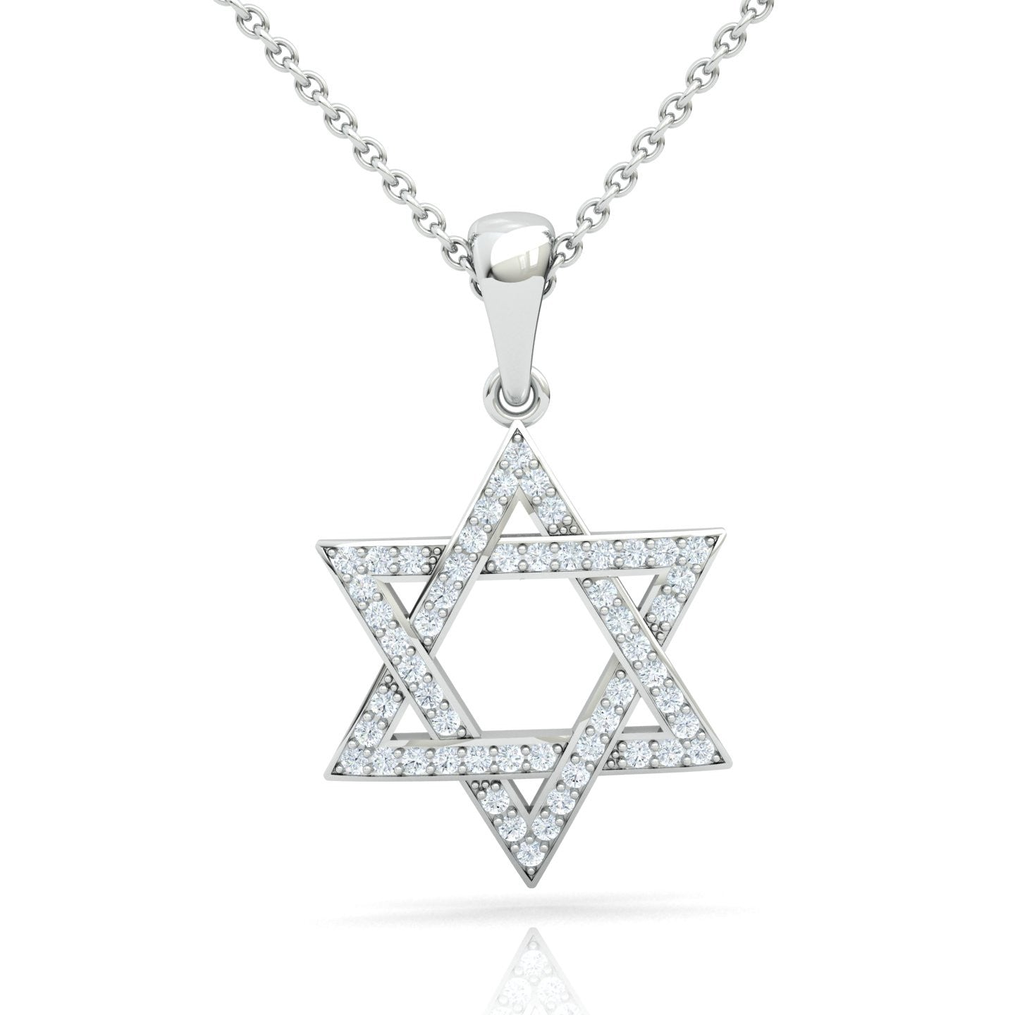 Interwoven star of david with diamonds gold pendant star of d star of david pendant with diamonds mozeypictures Images