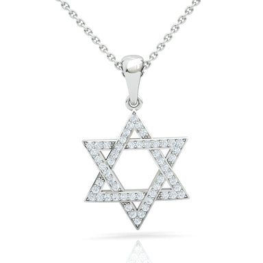 Star of David Gold Pendant With Diamonds