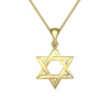Interwoven Star of David Pendant Adorned With A Diamond