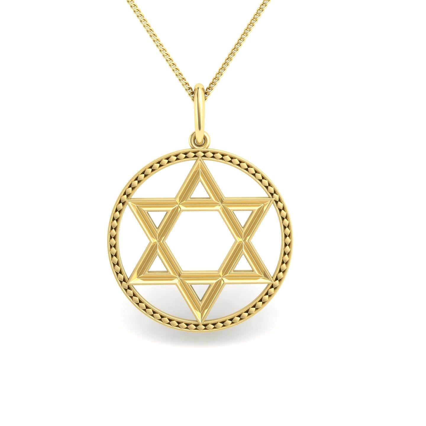 david star necklace karat jewish of yellow vermeil products magen gold adornia convertible closed no