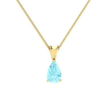 Natural Pear Shape Gem Gold Pendant