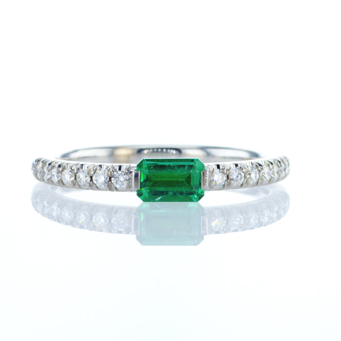 """Natalie"" ring with a natural emerald"