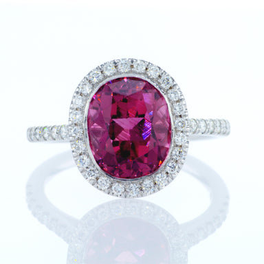 'Pink Lake' Ring with Pink Tourmaline