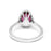Halo Ring with 1.70ct Pear Shape Natural Rubellite and Diamonds (1.99ct TW)