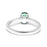 Solitaire Ring Set with 0.62ct Oval Shape Emerald and Diamonds