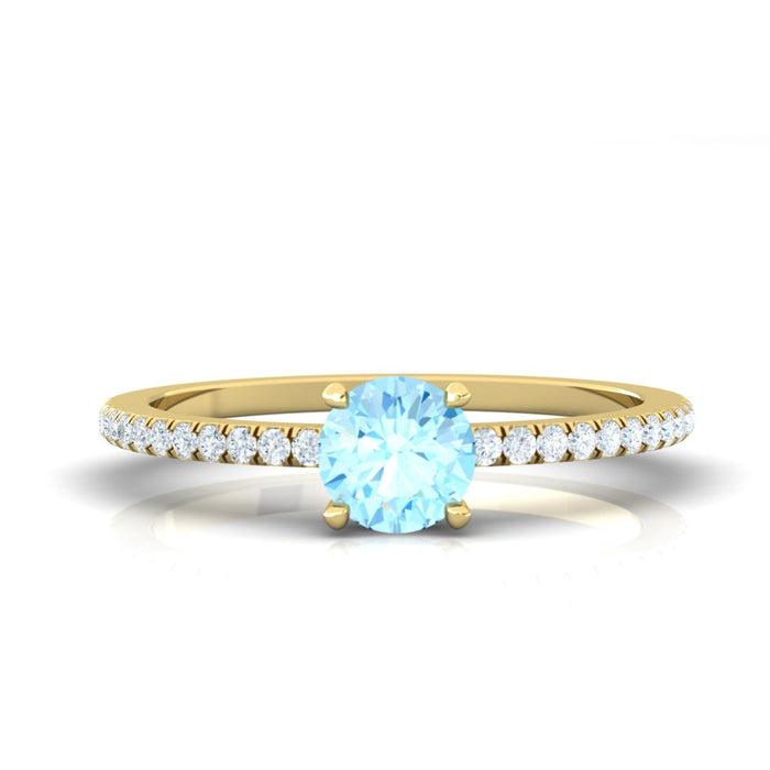 """Dianna"" Ring with Natural Gemstones"