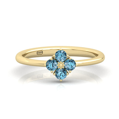 Serenity Ring with Natural Gemstones