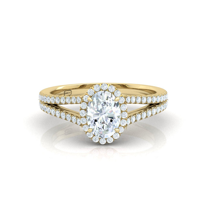 """Alyson"" Oval Shape Halo Engagement Ring"