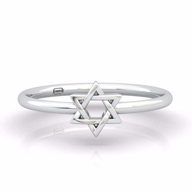 Interwoven Star of David Gold Ring