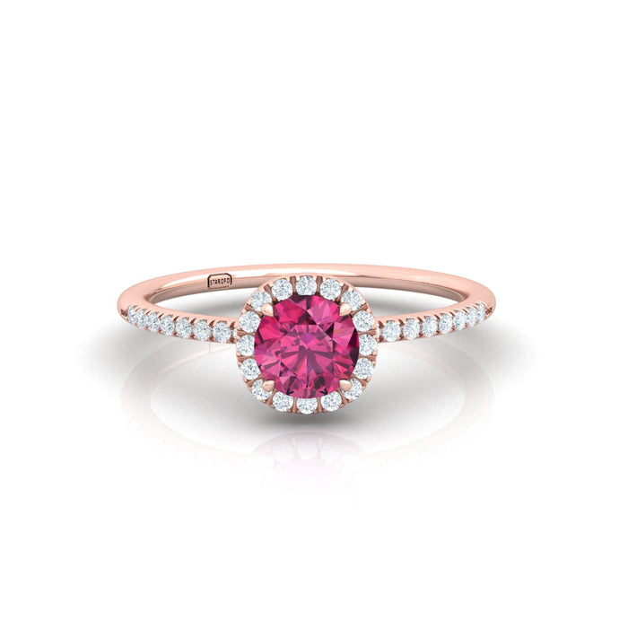 """Gal"" Halo Ring with Natural Gemstones"