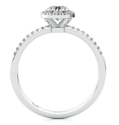 """Gal"" Diamond Halo Ring"