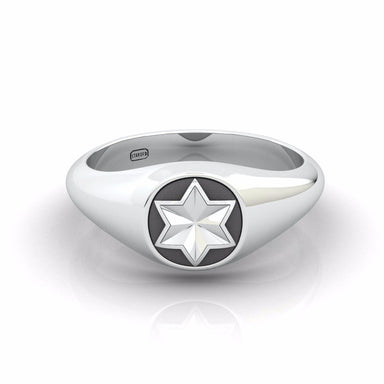 """Super H"" Star Of David Ring"
