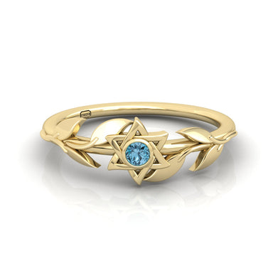 """Bloom"" Star of David Gemstone Ring"