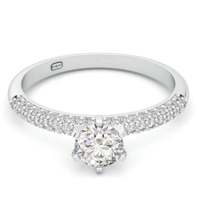 """Lin"" Diamond Engagement Ring"
