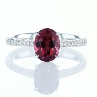 """The Pink"" Engagement Ring with Natural Pink Tourmaline ""Rubylite"""