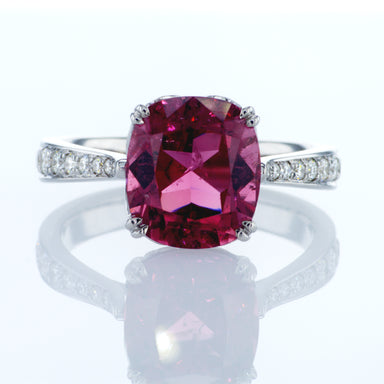 'Pink Power' Ring with Cushion Pink Tourmaline