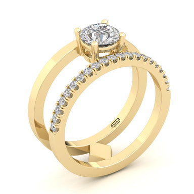 """Gill"" Double Ring Brilliant Solitaire"