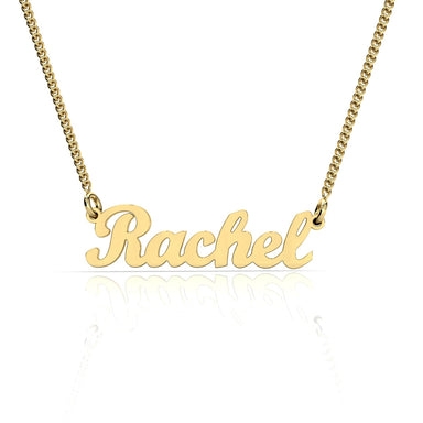 "Name Necklace ""Rachel"" Gold Pendant"