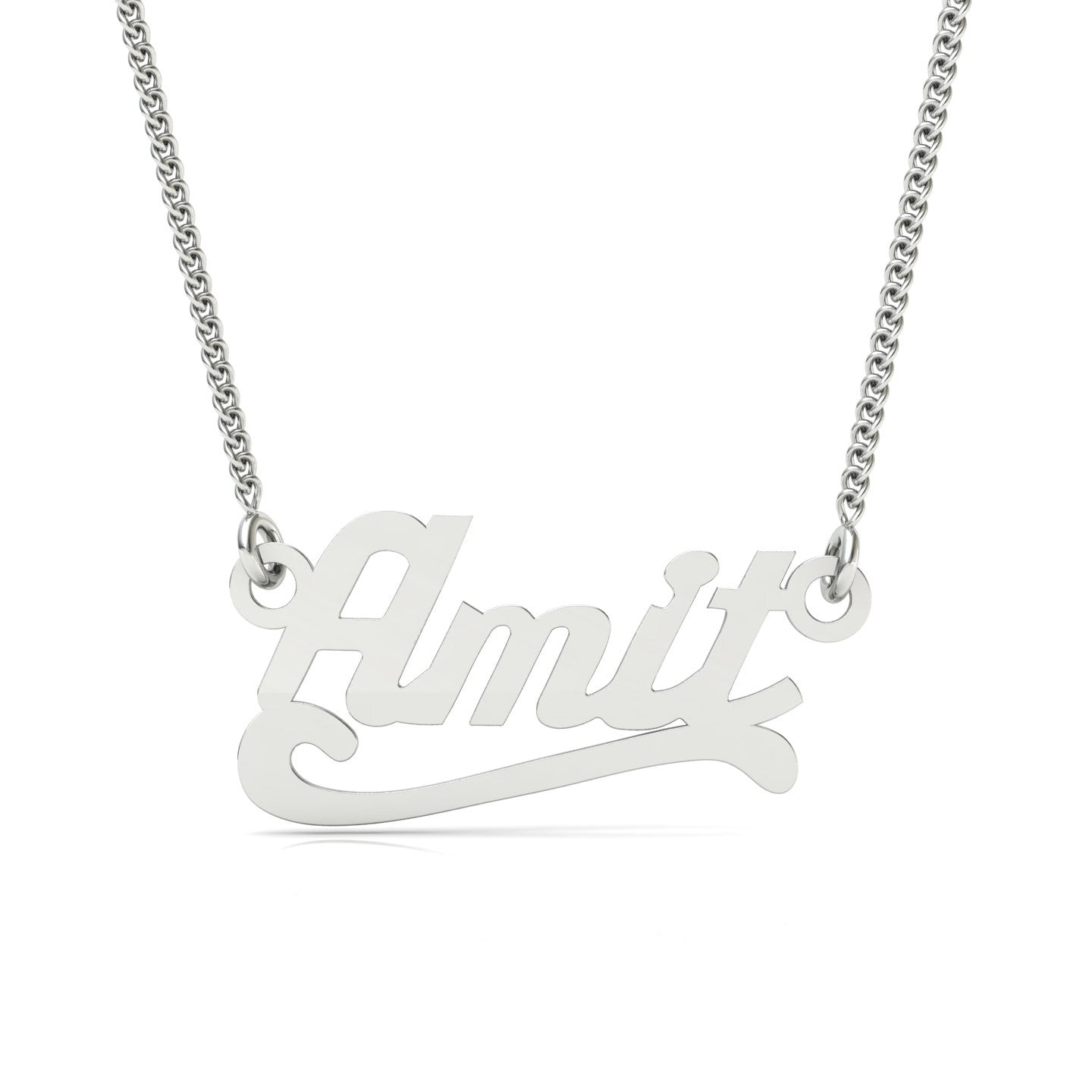 signature necklace or name cursive with letters gold block three initial products