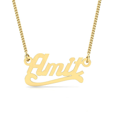 "Name Necklace ""Amit"" Gold Pendant"