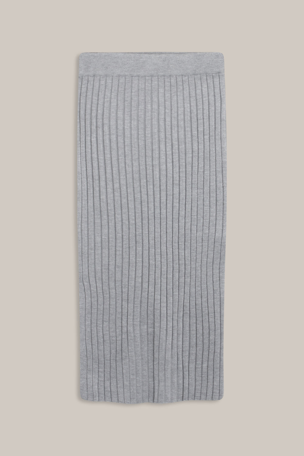 GRUNT Else Knit Skirt Skirts Grey Melange