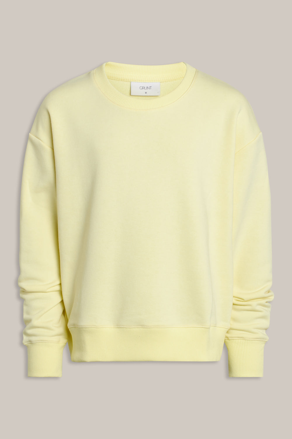 GRUNT OUR Lone Crew Sweat Sweats Yellow