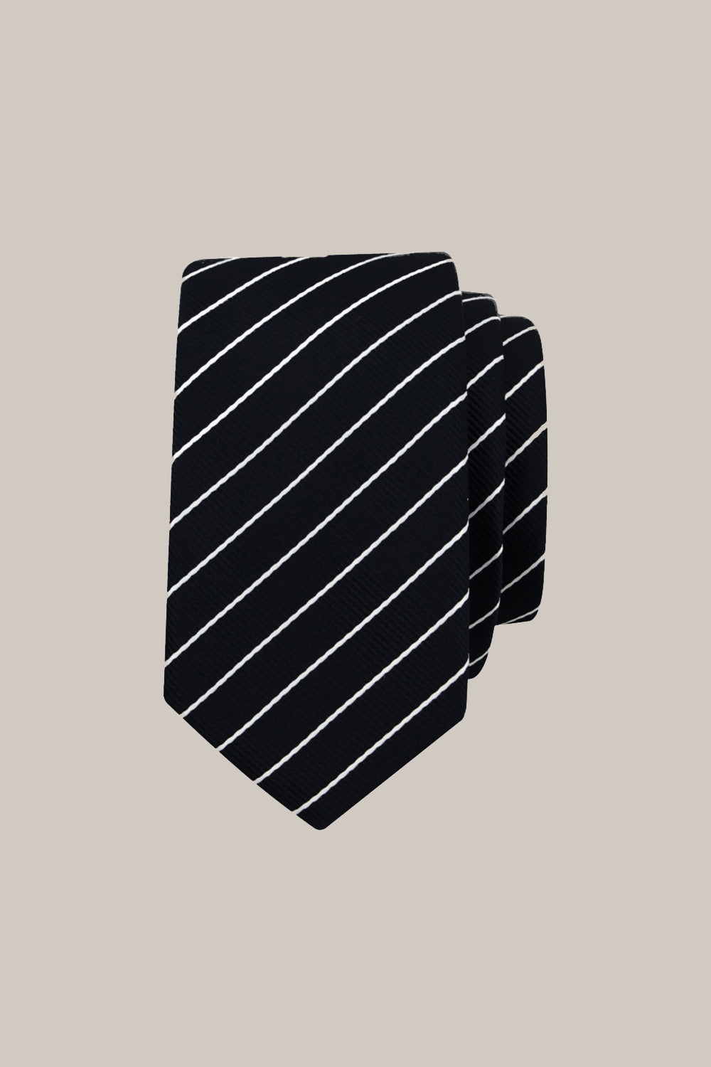 Formél Our For 5 Stripe Tie Accessories Black-White