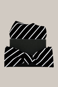 Formél Our Mél Stripe Bow Tie Accessories Black-White