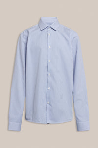 Formél Tex Stripe Shirt Shirts Blue