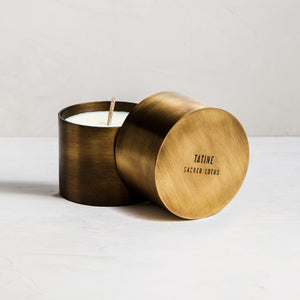 Sacred Lotus Candle - Natural Brass Collection