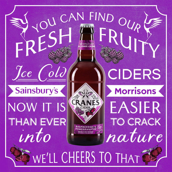 Cranes Cider Raspberries & Pomegranates (8x500ml)