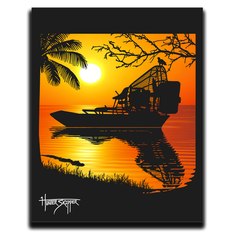 The Florida Airboat Canvas Print
