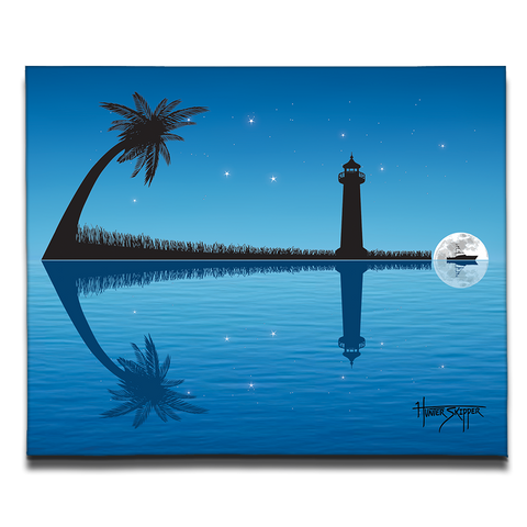 Anchor's Away Moon Canvas Print