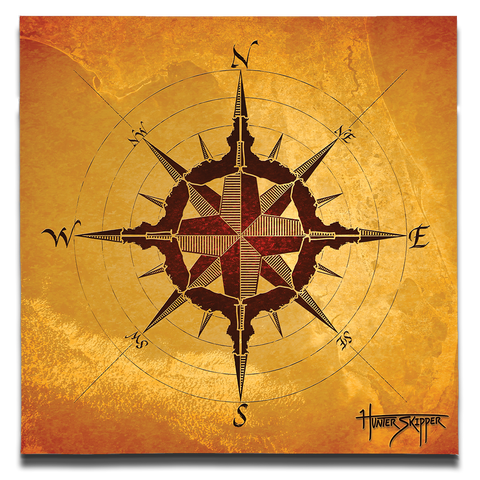 Florida Compass Canvas Print