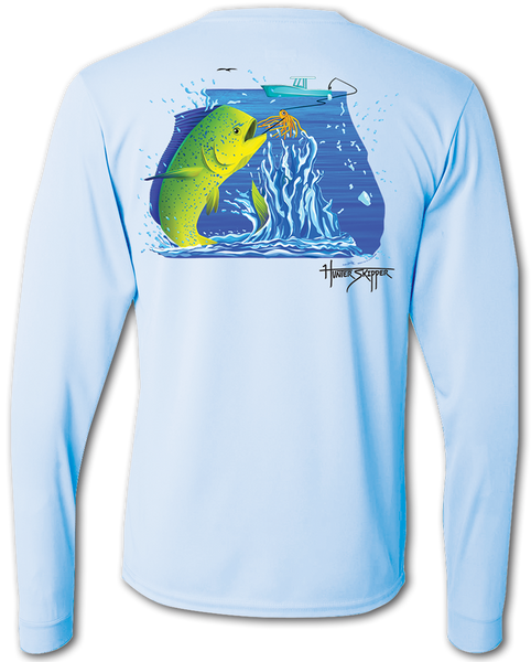 Florida apparel fishing shirts long sleeve saltwater for Two fish apparel