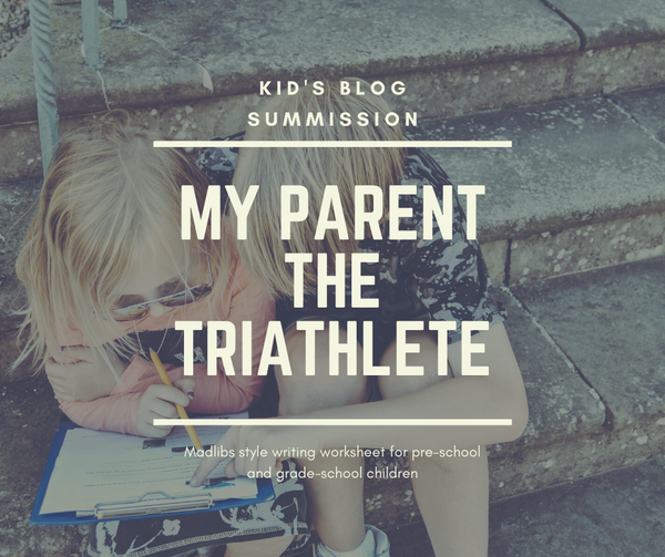 Triathlon Writing Activity for your Grade School Aged Child