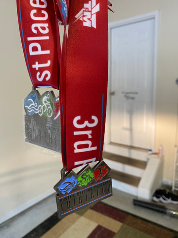 Race metals from the triathlon