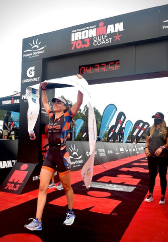 Grace Alexander first female to be overall winner in an Ironman branded race