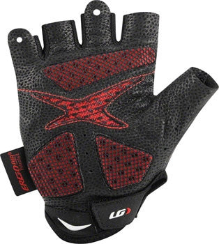 Louis Garneau Course 2 Glove: Black/Red~ MD