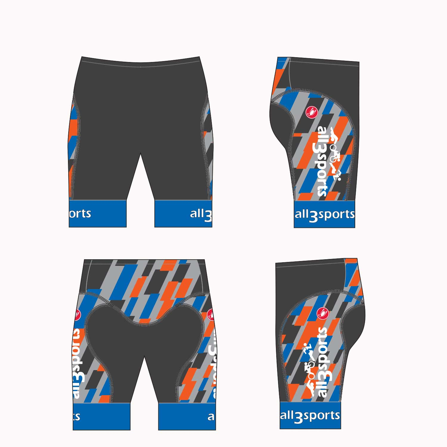2019 all3sports.com Team Free Tri Short